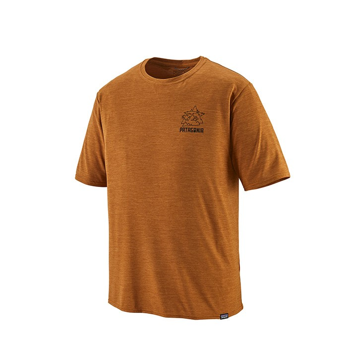 Patagonia Capilene Cool Daily Graphic Heren T-shirt Climber's Migration: Hammonds Gold X-dye - Monkshop