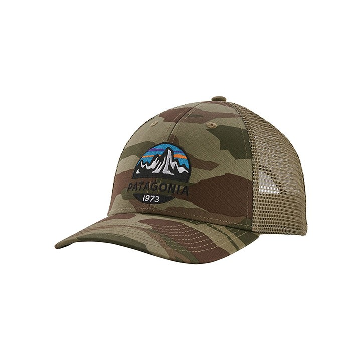 Patagonia Fitz Roy Scope LoPro Trucker Pet Bear Witness Camo: Sage Khaki - Monkshop