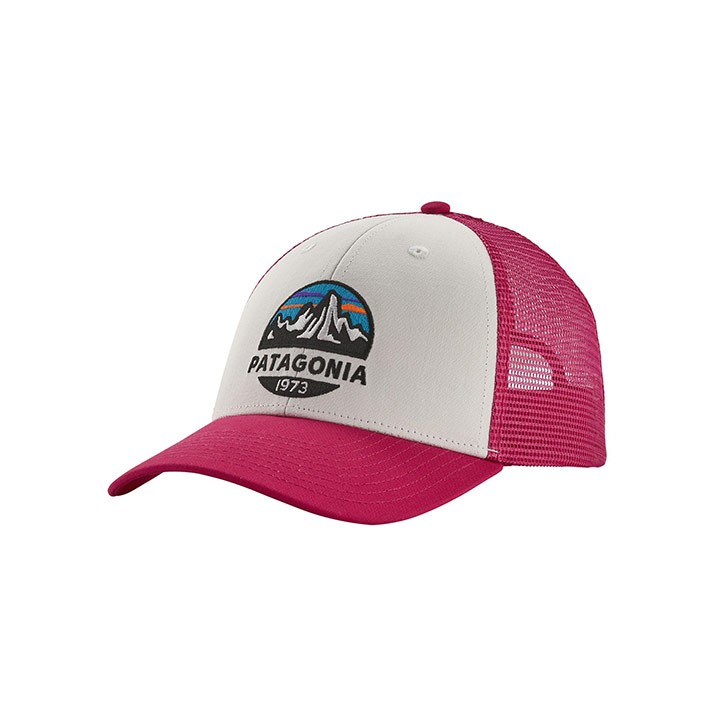 Patagonia Fitz Roy Scope LoPro Trucker Pet White With Craft Pink - Monkshop