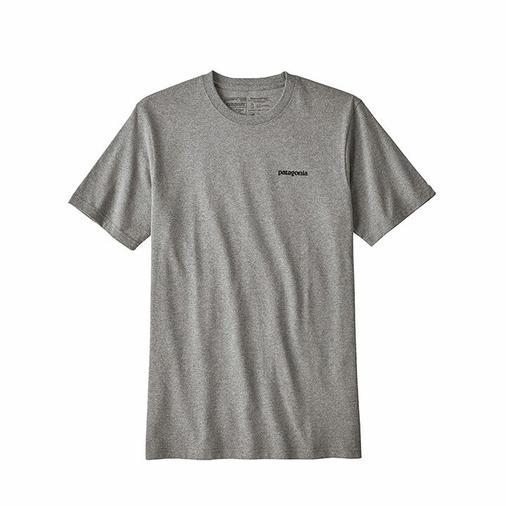 Patagonia P-6 Logo Responsibili-tee T-shirt Gravel Heather - Monkshop