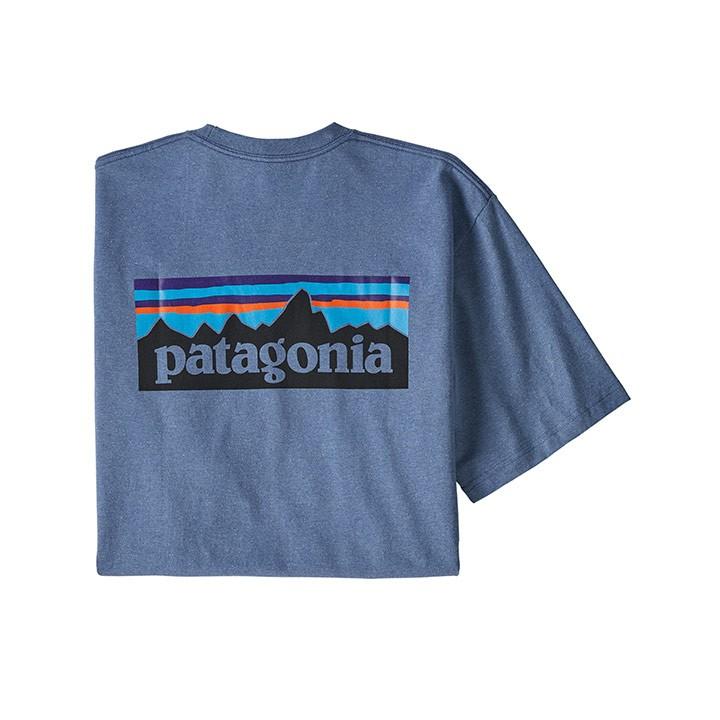 Patagonia P-6 Logo Responsibili-tee T-shirt Woolly Blue - Monkshop