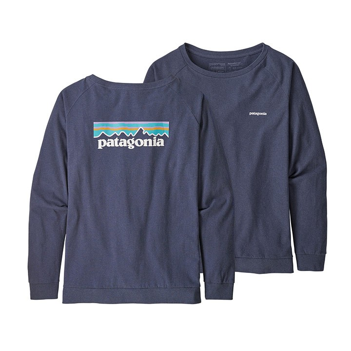 Patagonia Pastel P-6 Logo Responsibili-Tee Dames Longsleeve Dolomite Blue - Monkshop
