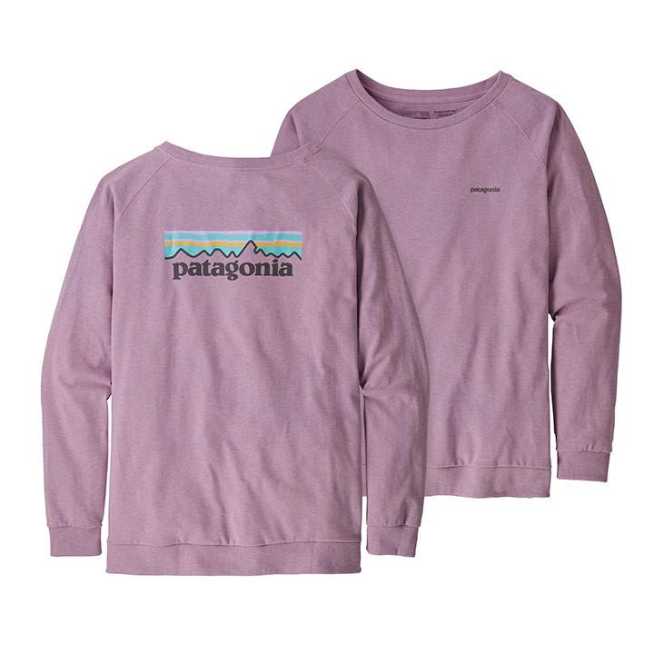 Patagonia Pastel P-6 Logo Responsibili-Tee Dames Longsleeve Verbena Purple - Monkshop