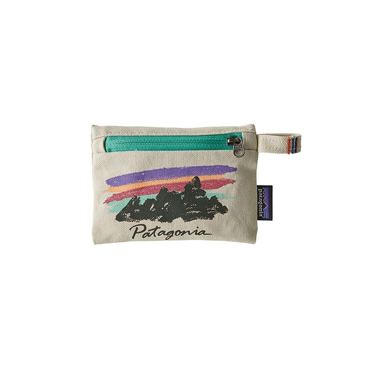 Patagonia Small Zippered Opbergtas Free Hands Fitz Roy: Bleached Stone - Monkshop