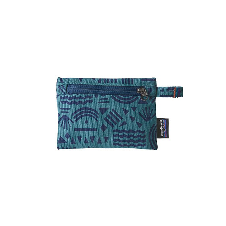 Patagonia Small Zippered Opbergtas Protected Peaks HZ: Tasmanian Teal - Monkshop