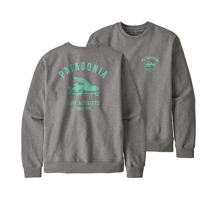 Patagonia Surf Activists Uprisal Crew Herentrui Gravel Heather - Monkshop