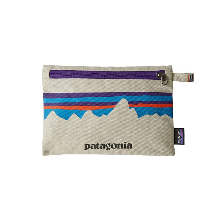 Patagonia Zippered Opbergtas P-6 Fitz Roy: Bleached Stone - Monkshop