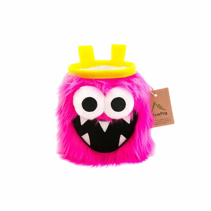 Crafty Climbing Five Toothed Monster Pofzak Pink - Monkshop