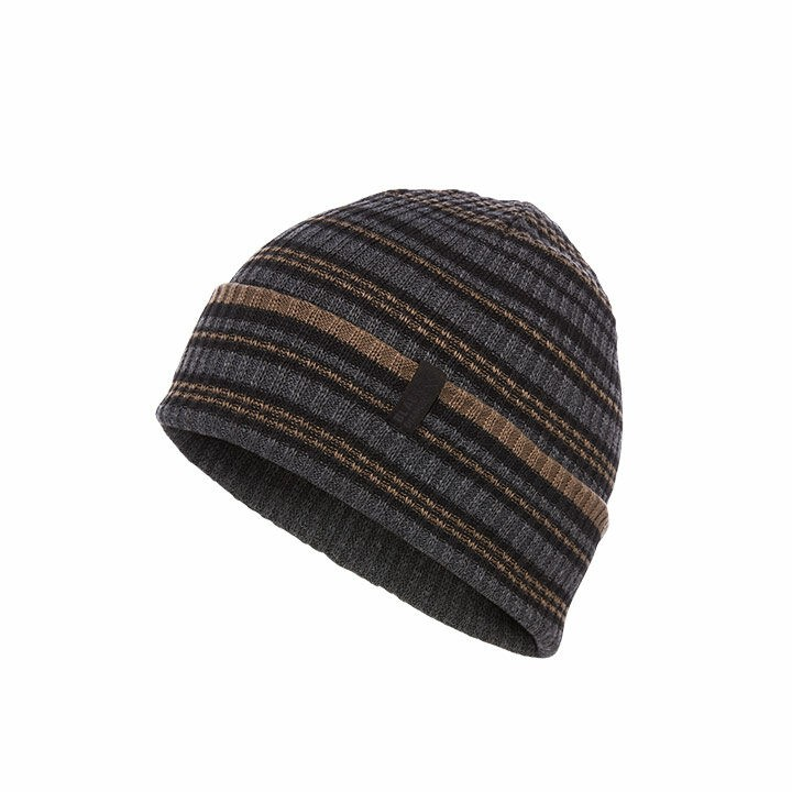 Black Diamond Cardiff Beanie Black-Walnut - Stripe
