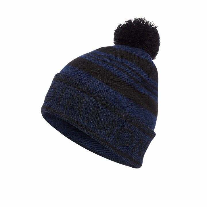 Black Diamond Pom Beanie Black Blue - Monkshop