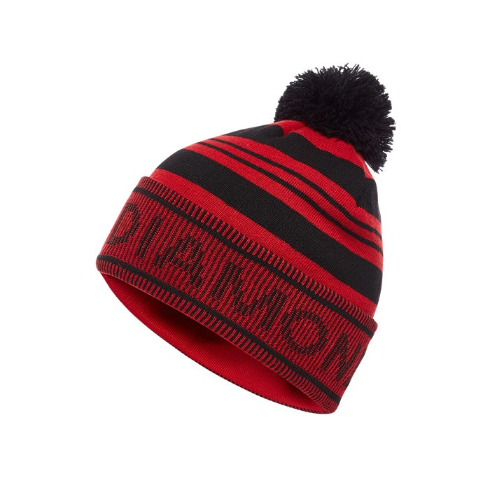 Black Diamond Pom Beanie Black-Hyper Red - Monkshop