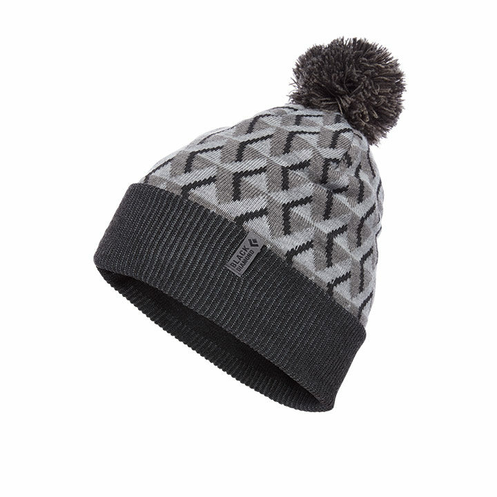 Black Diamond Pom Beanie Grey Icon - Monkshop