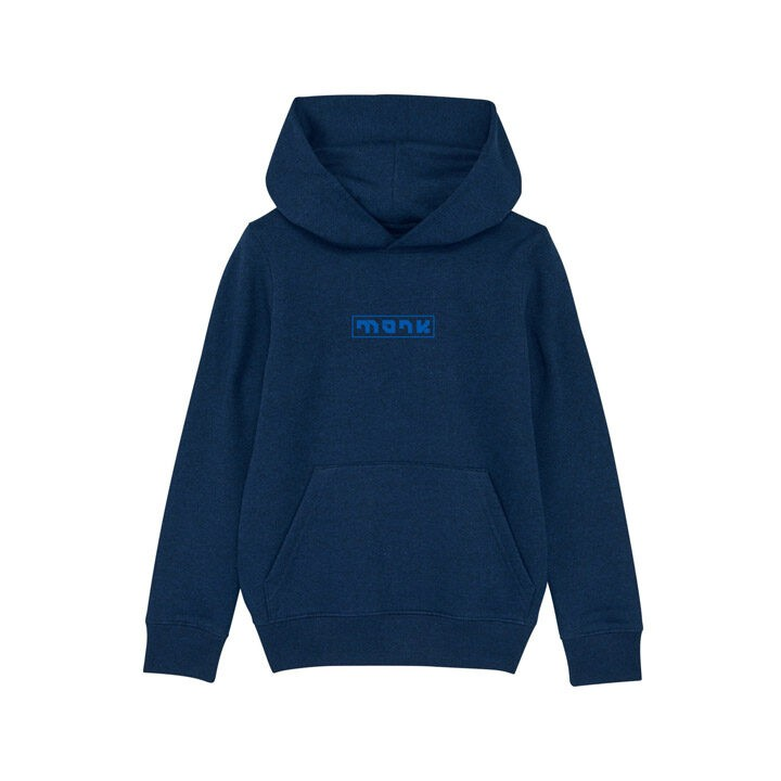 Monk Logo Kinder Hoody Black Heather Blue - Monkshop