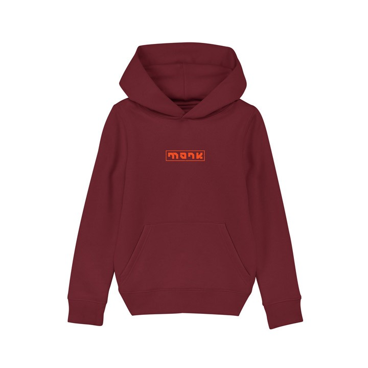Monk Logo Kinder Hoody Burgundy - Monkshop