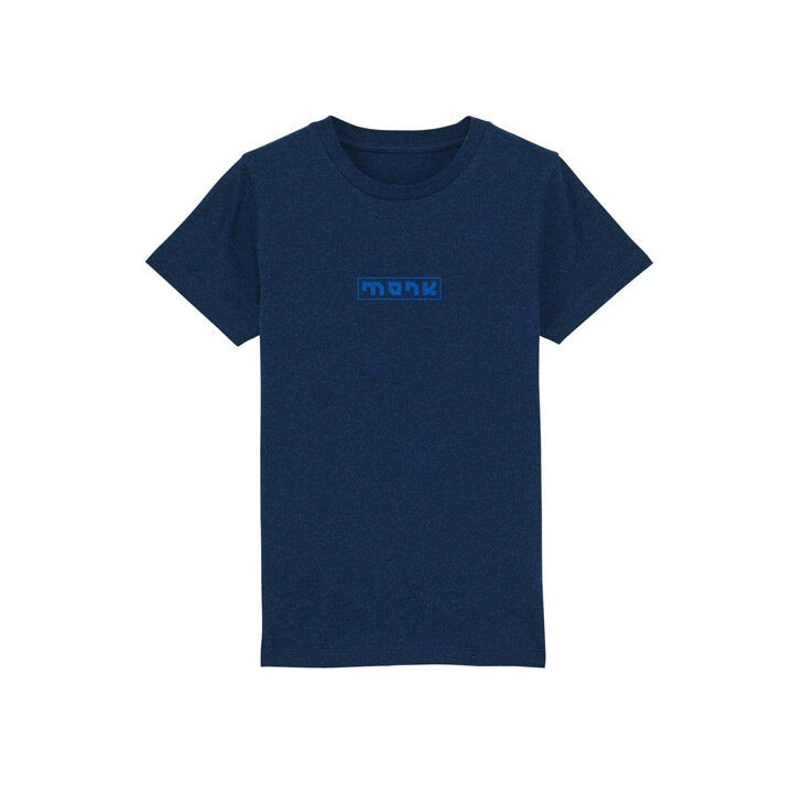 Monk Logo Kids T-Shirt Black Heather Blue - Monkshop