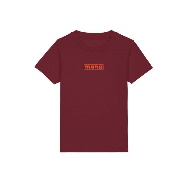 Monk Logo Kinder T-Shirt Burgundy - Monkshop