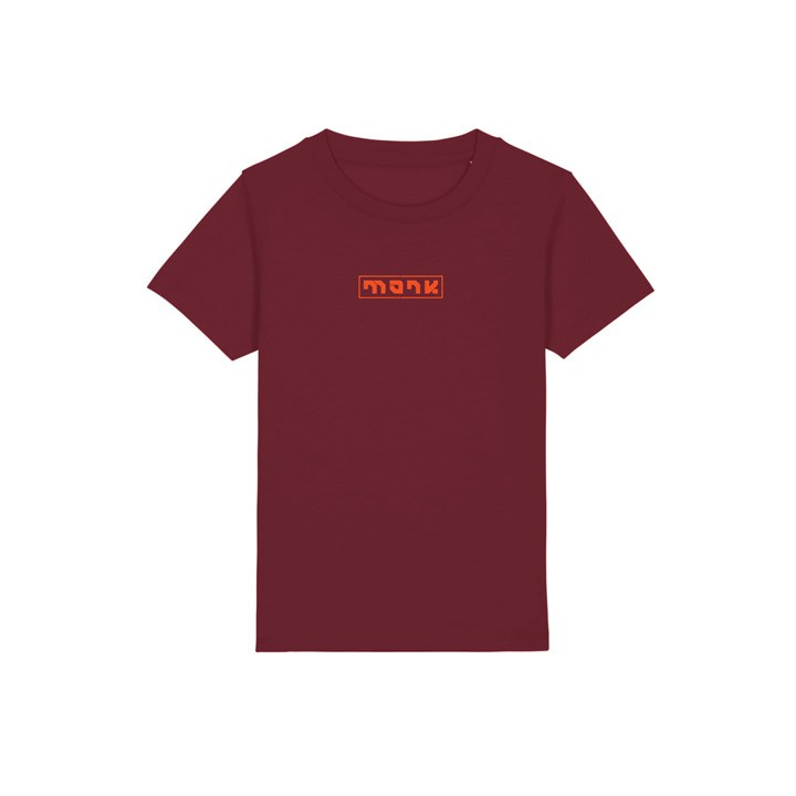 Monk Logo Kinder T-Shirt Burgundy - Monkshop