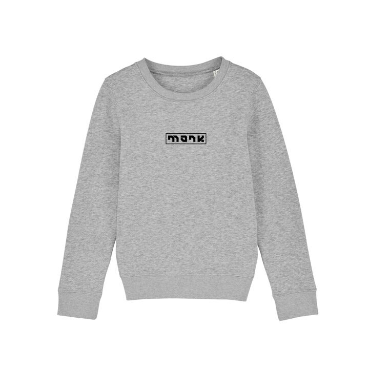 Monk Logo Kinder Trui Heather Grey - Monkshop