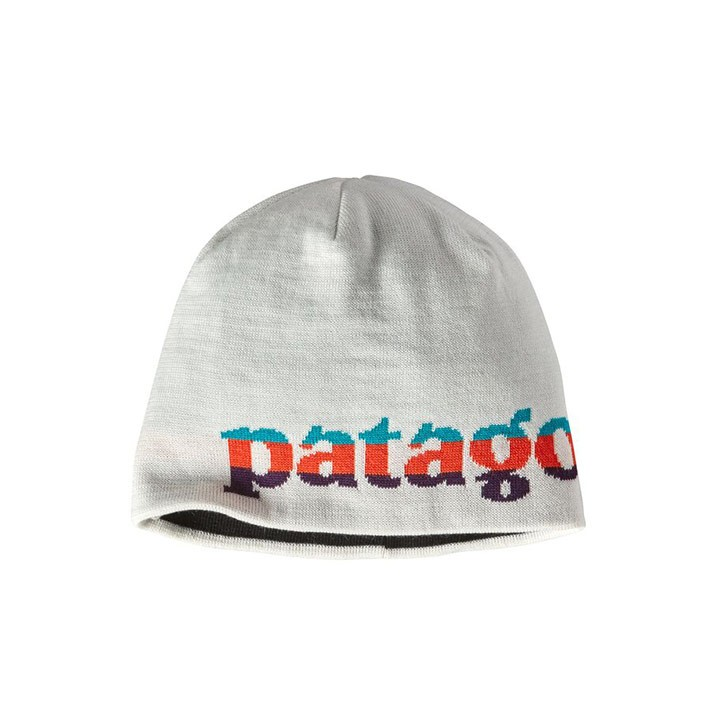 Patagonia Beanie Hat Logo Belwe Mini: Birch White - Monkshop