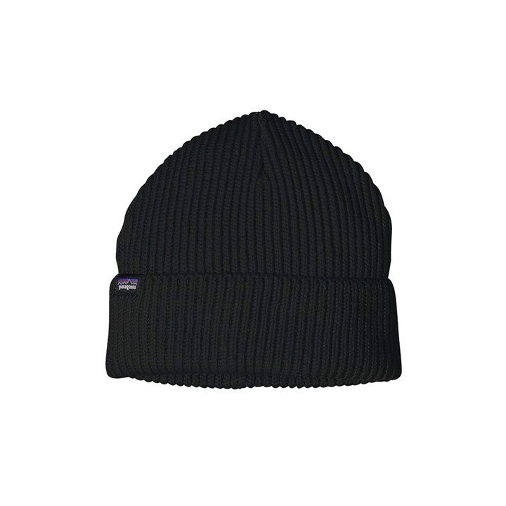 Patagonia Fisherman's Rolled Beanie Black - Monkshop