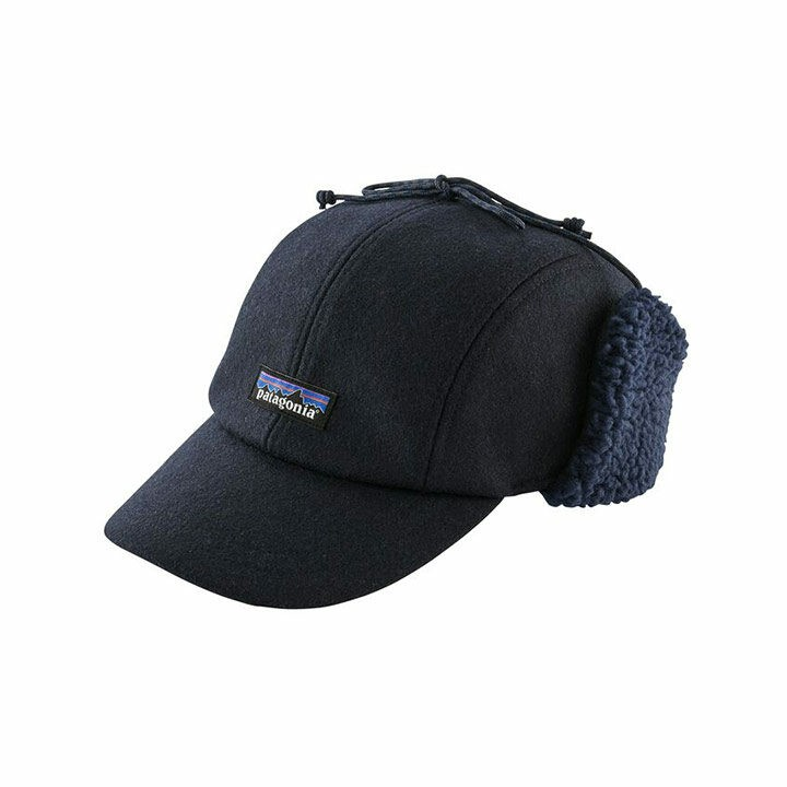 Patagonia Recycled Wool Ear Flap Cap Classic Navy - Monkshop