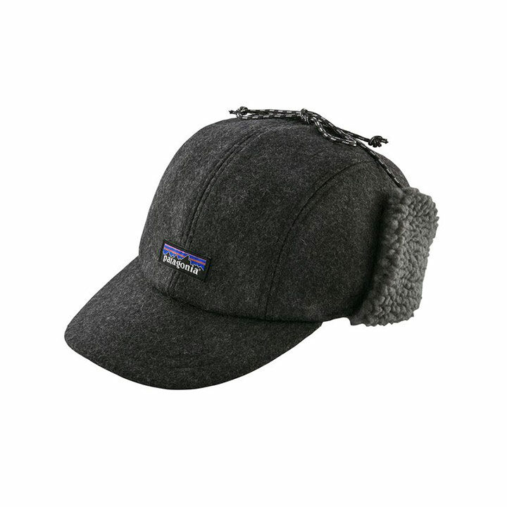 Patagonia Recycled Wool Ear Flap Cap Forge Grey - Monkshop