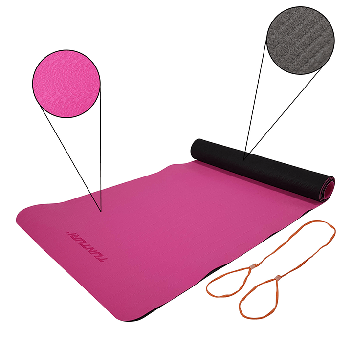 Tunturi TPE Yogamat 4mm Pink - Monkshop