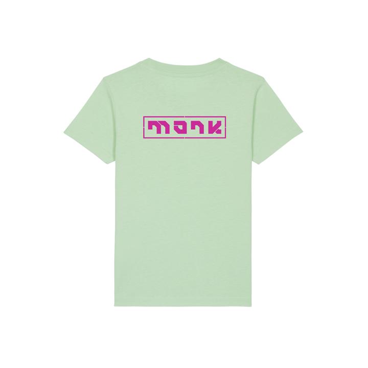 Monk Logo Kinder T-Shirt Geysher Green - Monkshop