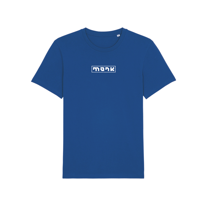 Monk Logo Unisex T-Shirt Majorelle Blue - Monkshop