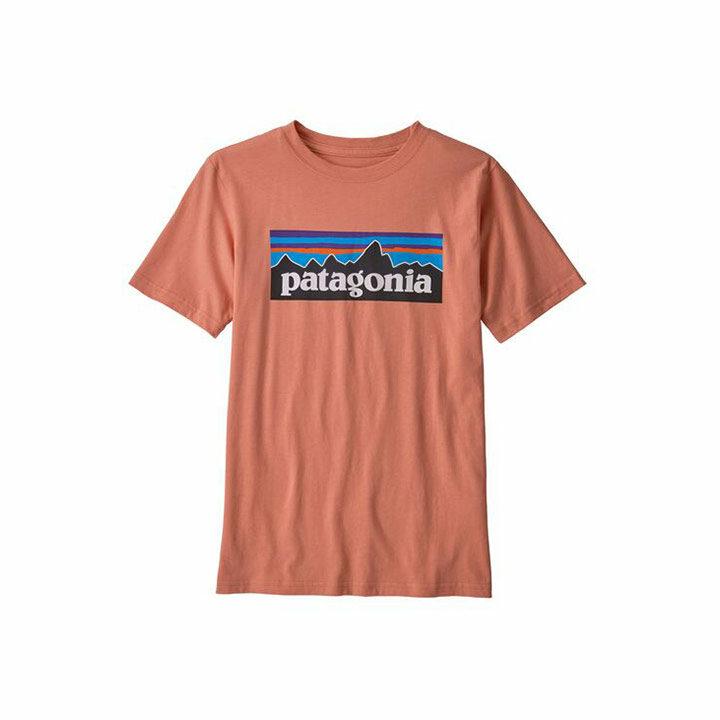 Patagonia P-6 Logo Organic Kinder T-Shirt Mellow Melon - Monkshop