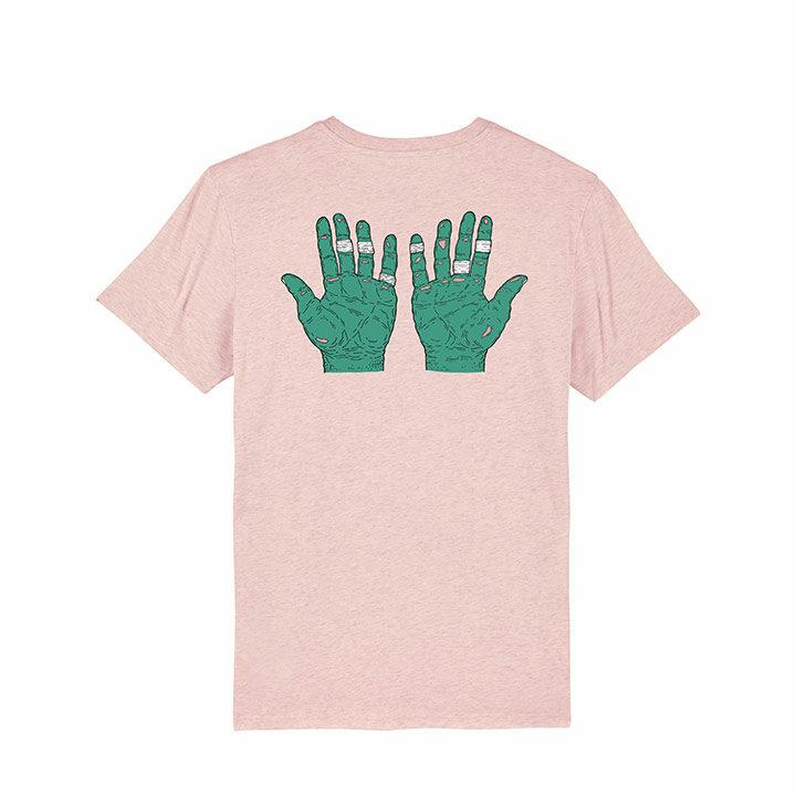 Vleeshaak Flapper Unisex T-Shirt Cream Heather Pink - Monkshop