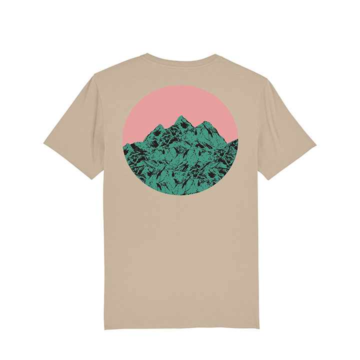 Vleeshaak Mountain Peak Unisex T-Shirt Desert Dust - Monkshop