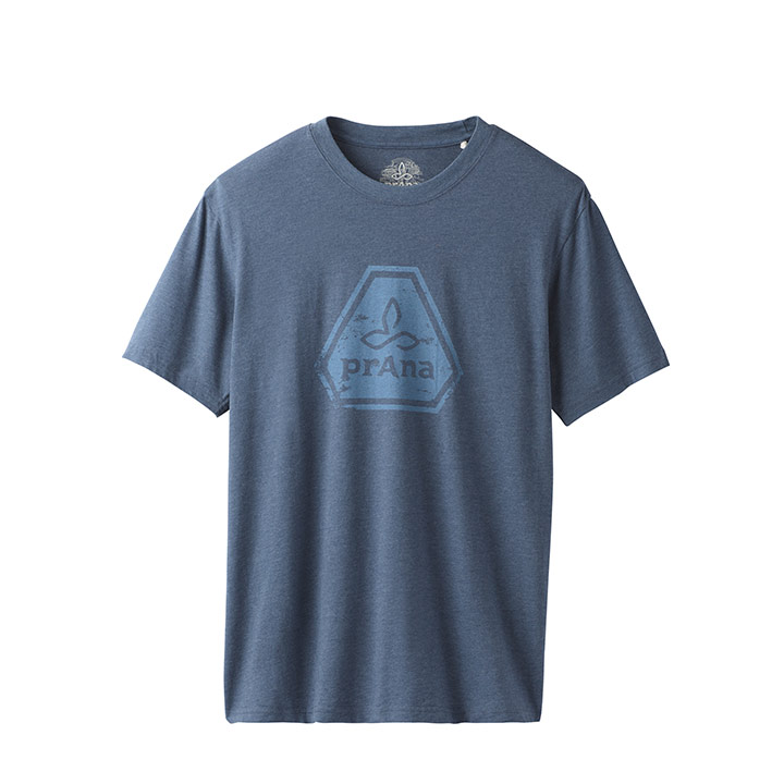 Prana Icon Heren T-Shirt Denim Heather - Monkshop