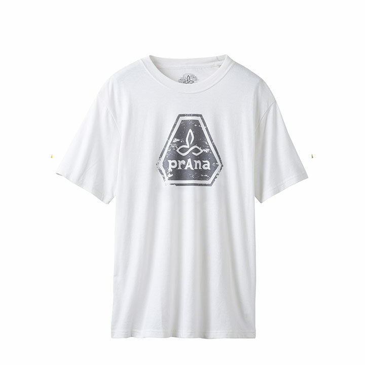 Prana Icon Heren T-Shirt White - Monkshop