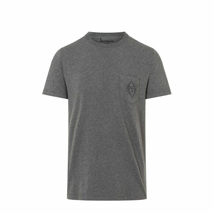 Black Diamond BD Rays Pocket Heren T-Shirt Charcoal Heather - Monkshop