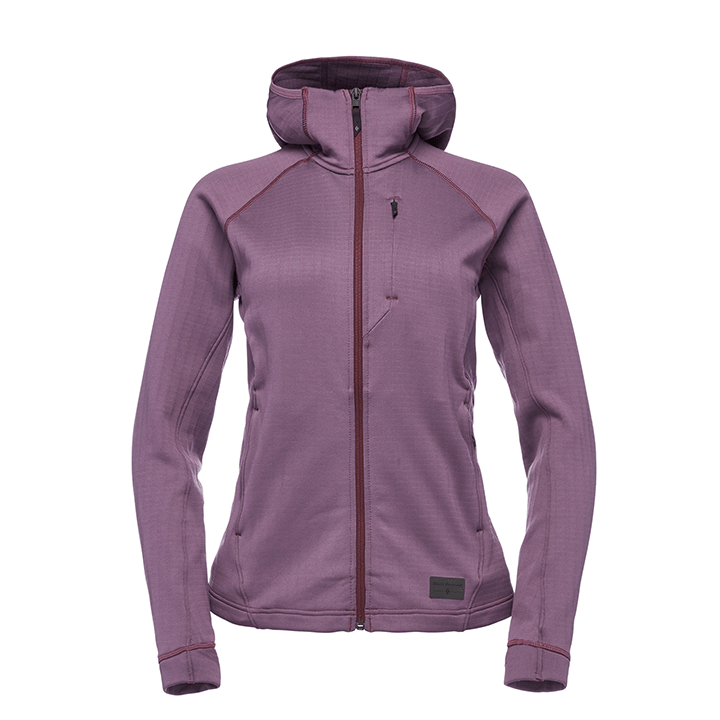 Black Diamond Factor Dames Hoody Plum - Monkshop