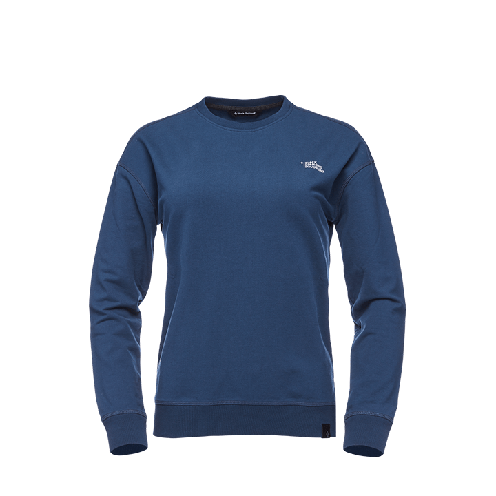 Black Diamond Ridge Logo Dames Crew Trui Ink Blue - Monkshop