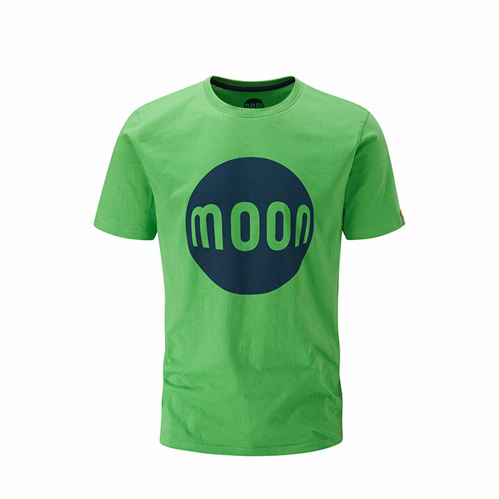 Moon Logo Heren T-Shirt Vibrant Green - Monkshop