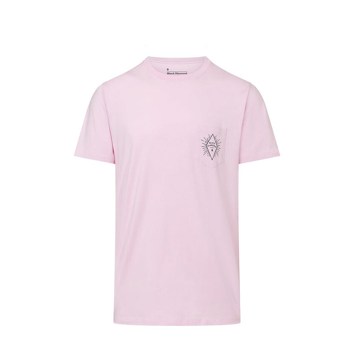 Black Diamond BD Rays Heren Pocket T-Shirt Himalayan Salt - Monkshop