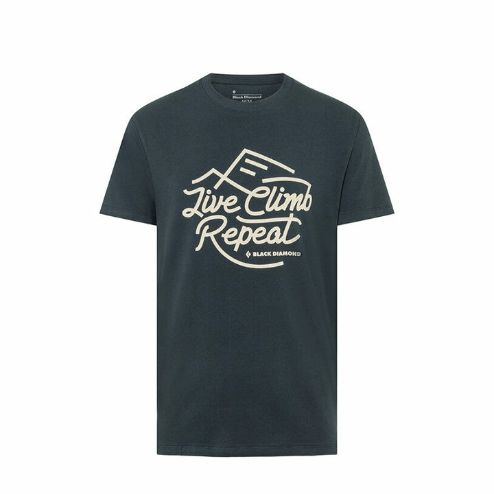 Black Diamond Live Climb Repeat Heren T-Shirt Eclipse - Monkshop