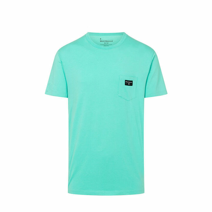 Black Diamond Pocket Label Heren T-Shirt Minted - Monkshop