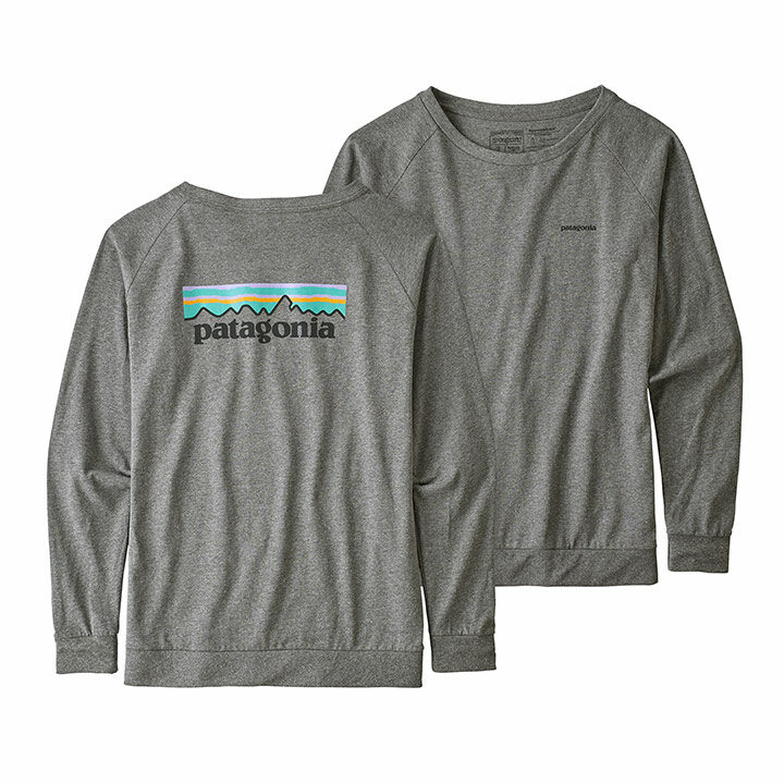Patagonia Pastel P-6 Logo Responsibili-tee Dames Longsleeve Gravel Heather - Monkshop