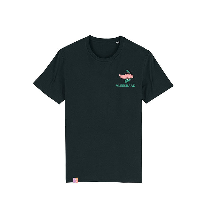 Vleeshaak Cotton Candy Unisex T-Shirt Black - Monkshop