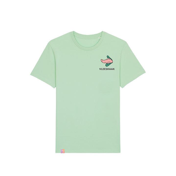 Vleeshaak Cotton Candy Unisex T-Shirt Geyser Green - Monkshop