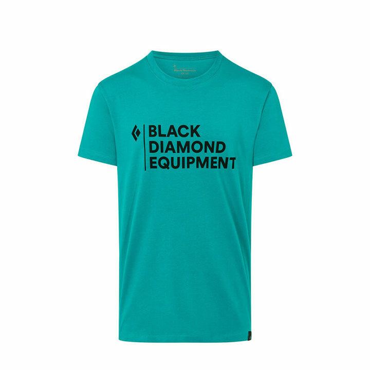 Black Diamond Stacked Logo Heren T-Shirt Teal - Monkshop