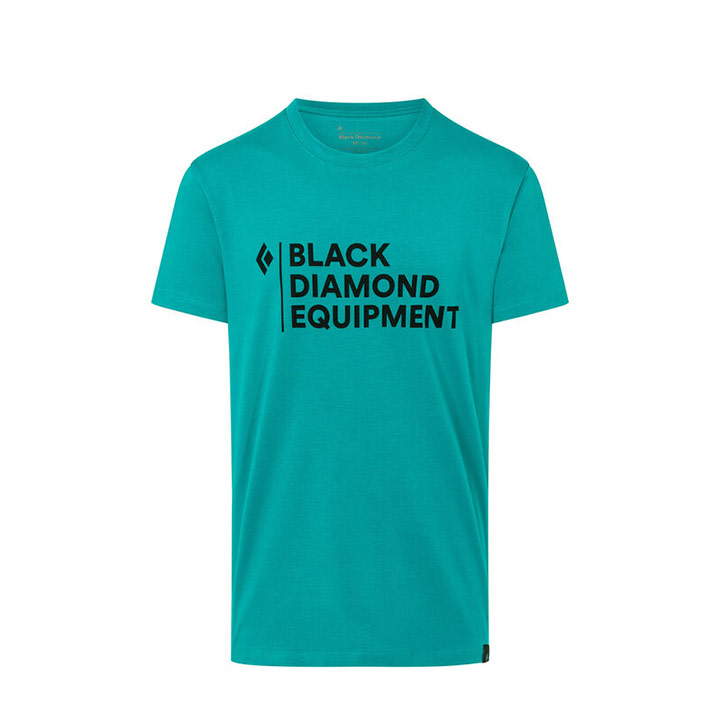 Black Diamond Stacked Logo Heren T-Shirt Teal - Monkshop