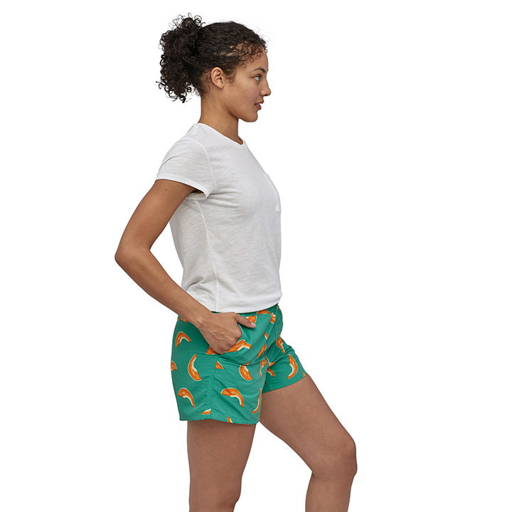 Patagonia Baggies Dames Korte Broek Melons: Light Beryl Green - Monkshop