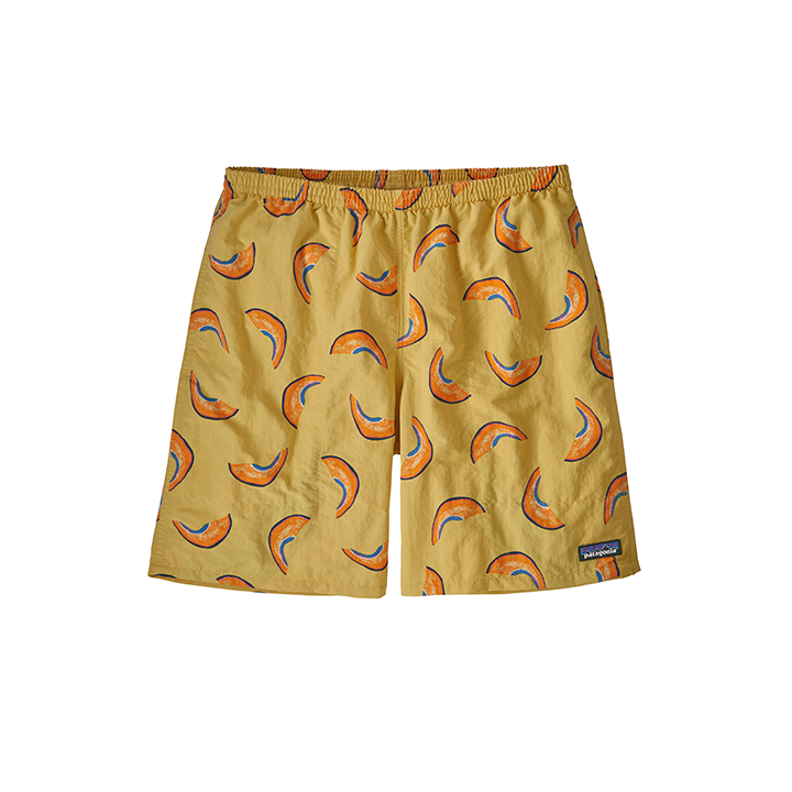 Patagonia Baggies Longs 7inch Heren Korte Broek Melons: Surfboard Yellow - Monkshop
