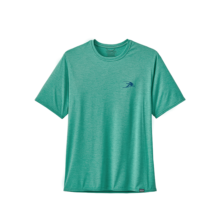 Patagonia Capilene Cool Daily Graphic Heren T-Shirt Vision Mission: Beryl Green X-Dye - Monkshop