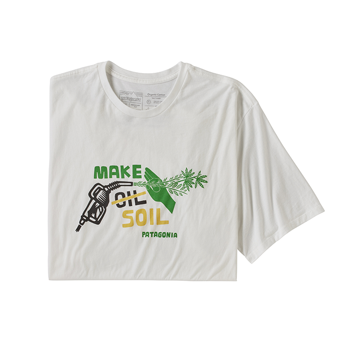 Patagonia Make Soil Organic Heren T-Shirt White - Monkshop